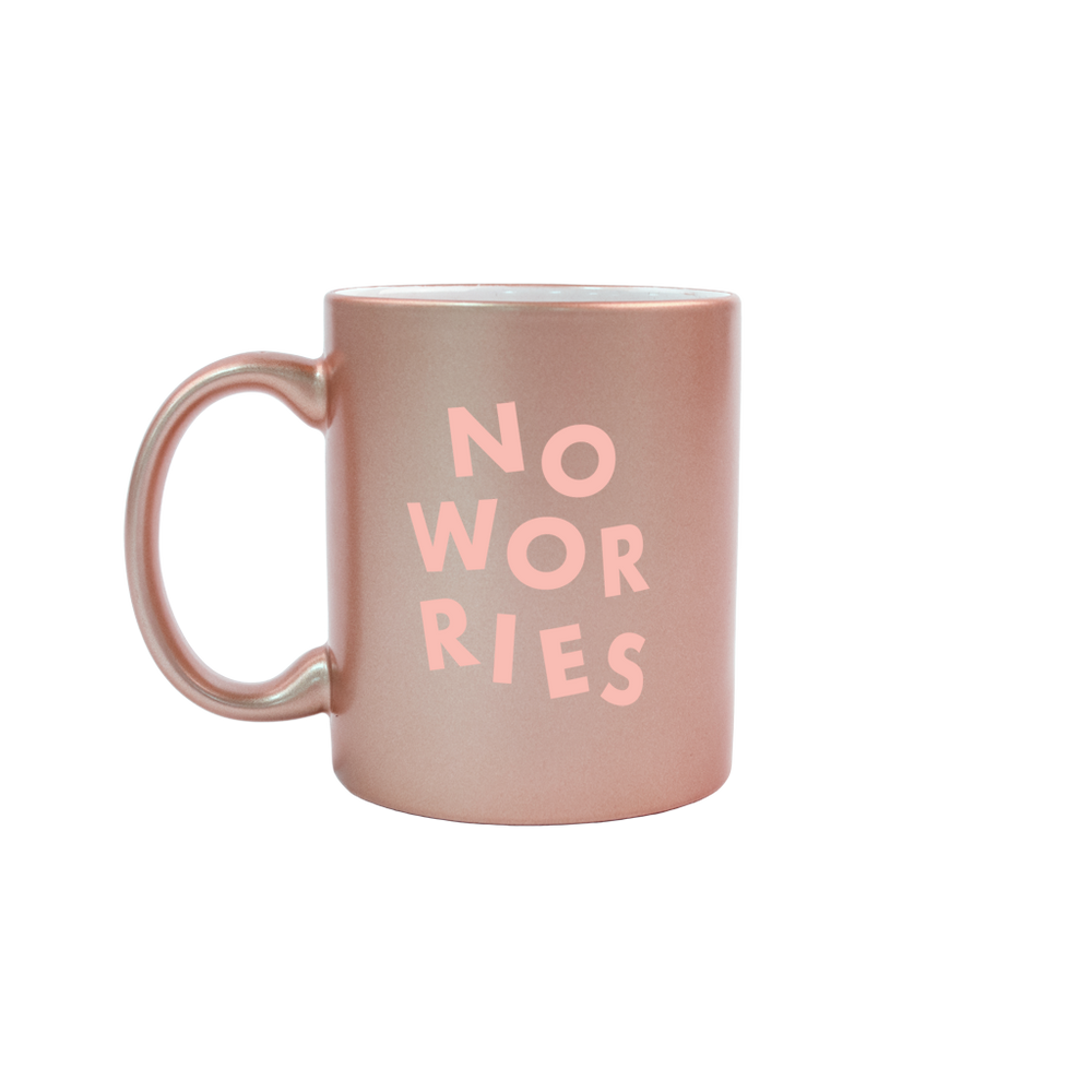 No Worries Rose Gold Mug - Talking Out Of Turn - [product_description]