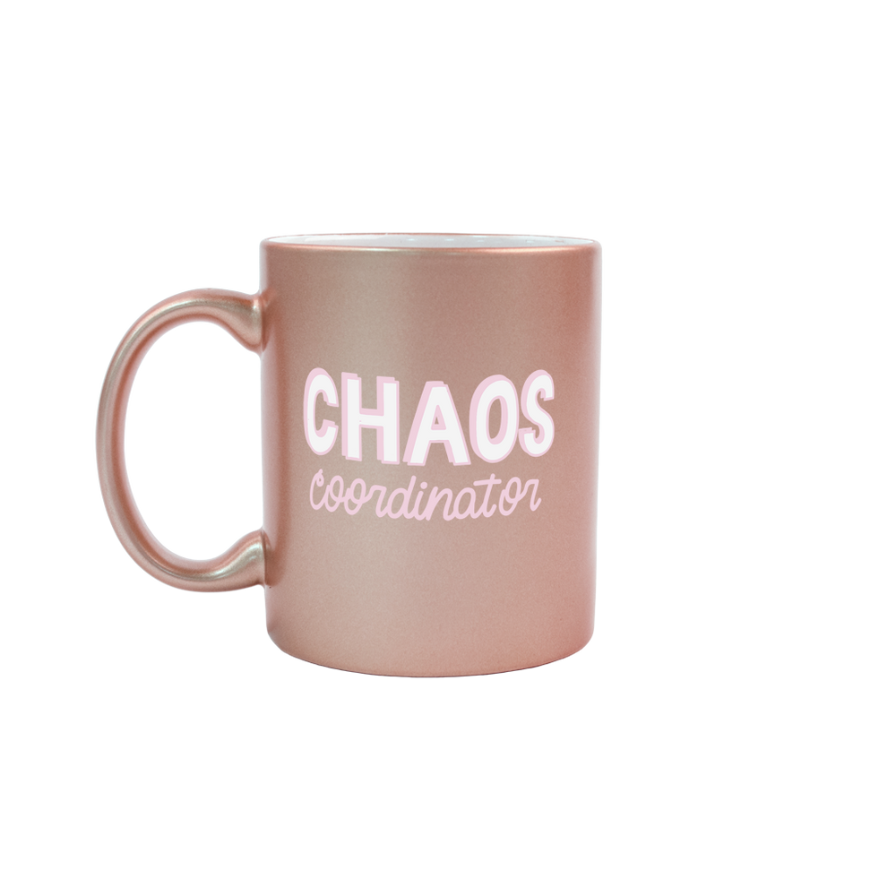 Chaos Manager Rose Gold Mug - Talking Out Of Turn - [product_description]