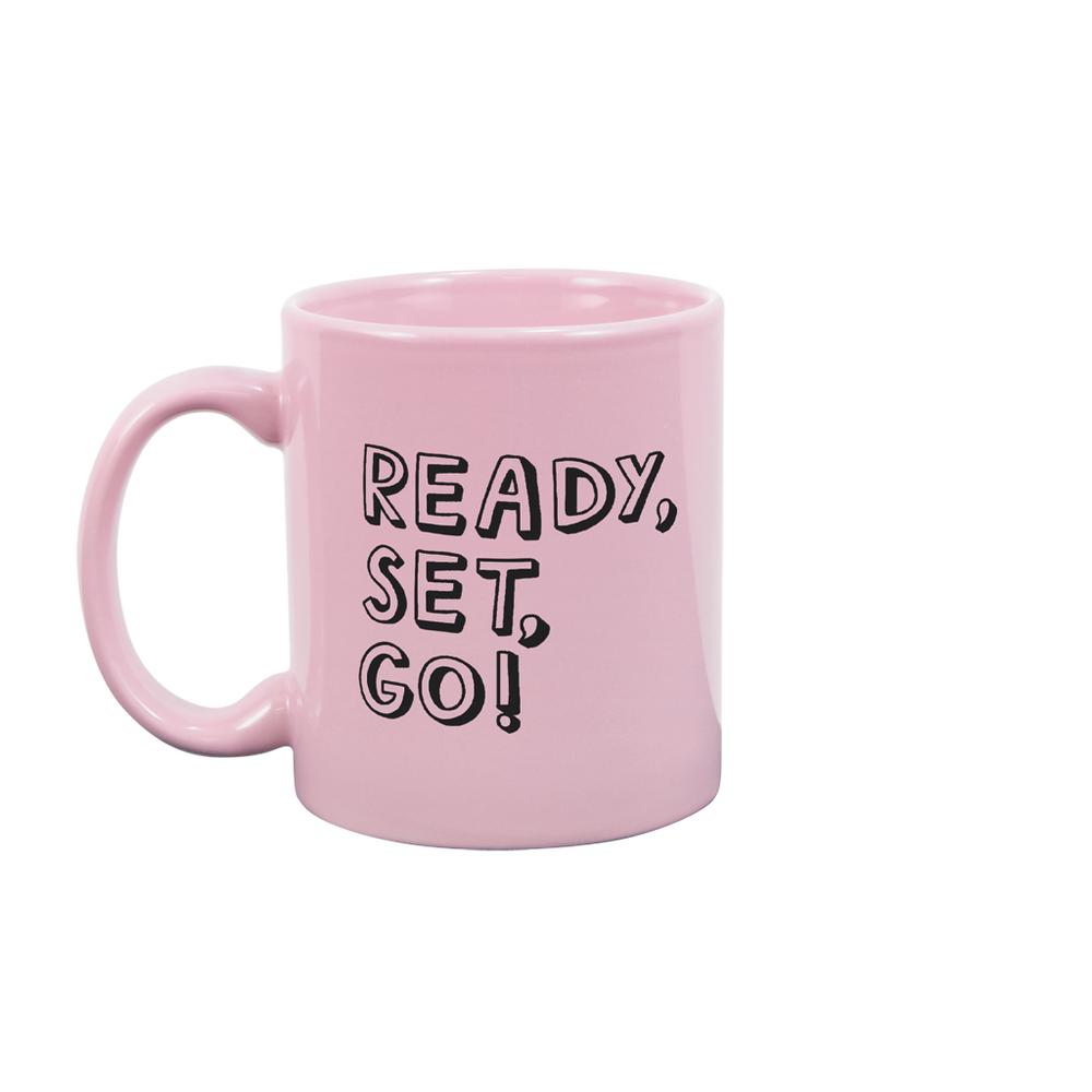 Ready Set Go Blush Pink Mug - Talking Out Of Turn - [product_description]