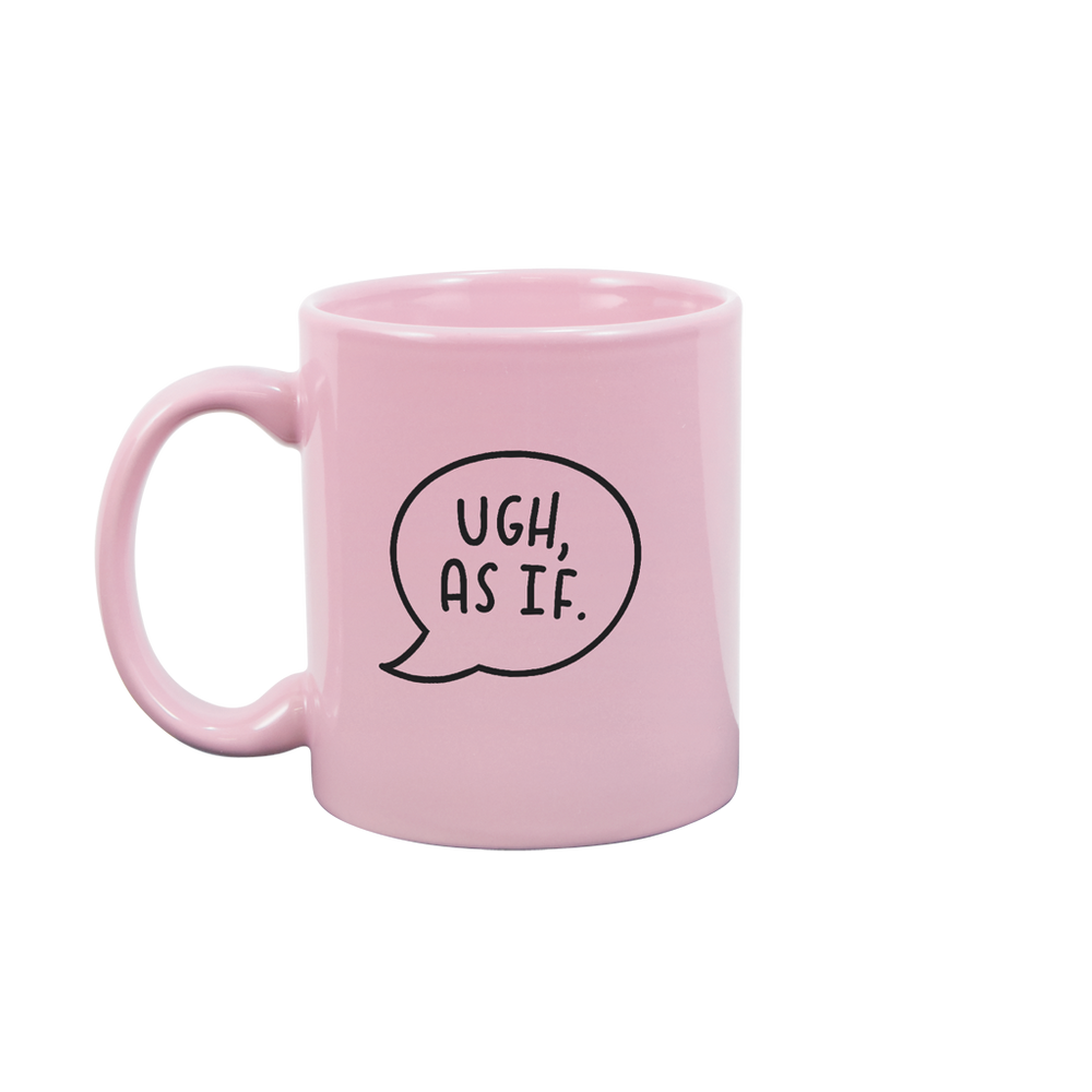 Ugh As If Blush Pink Mug - Talking Out Of Turn - [product_description]