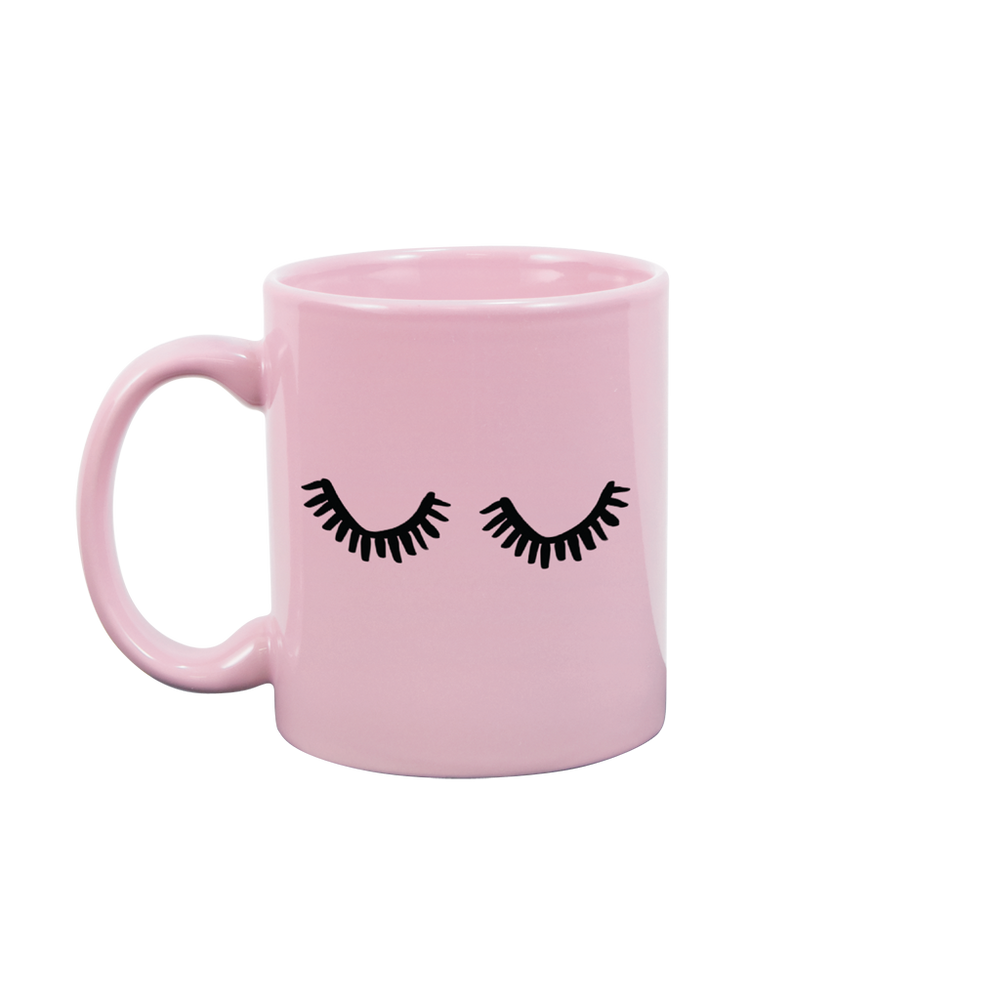 Eyelashes Blush Pink Mug - Talking Out Of Turn - [product_description]