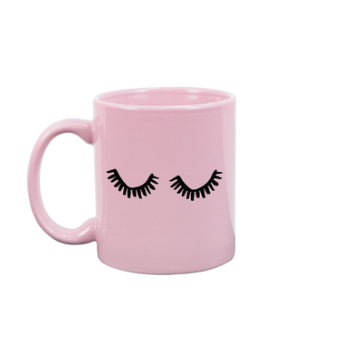 Eyelashes Blush Pink Mug - Talking Out Of Turn