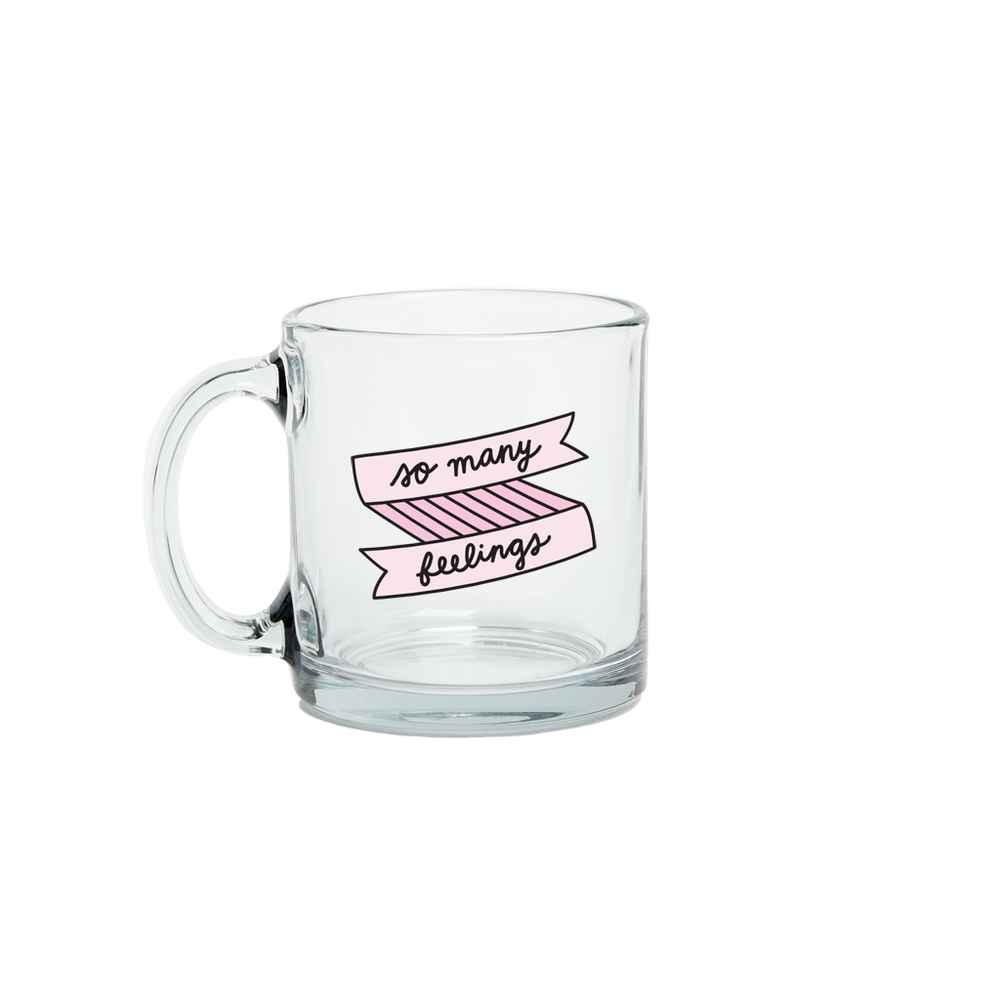 So Many Feelings Glass Mug - Talking Out Of Turn - [product_description]