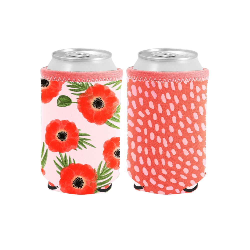 Poppies Reversible Can Holder - Talking Out Of Turn - [product_description]