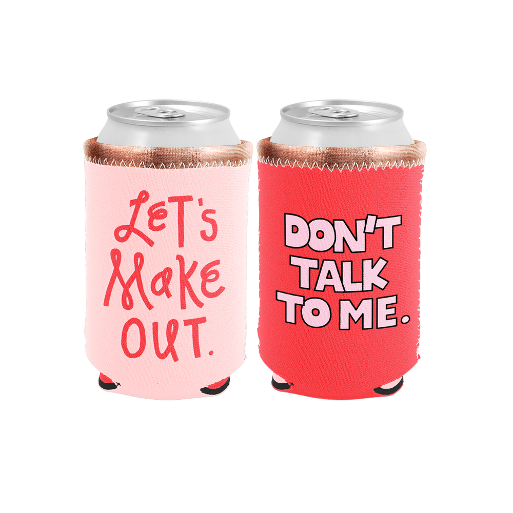 Let's Make Out Reversible Can Holder - Talking Out Of Turn - [product_description]