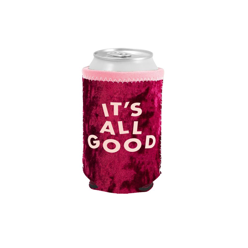 It's All Good Velvet Can Holder - Talking Out Of Turn - [product_description]