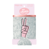 Peace Velvet Can Cooler comes packaged in a cute pink cardboard sleeve.