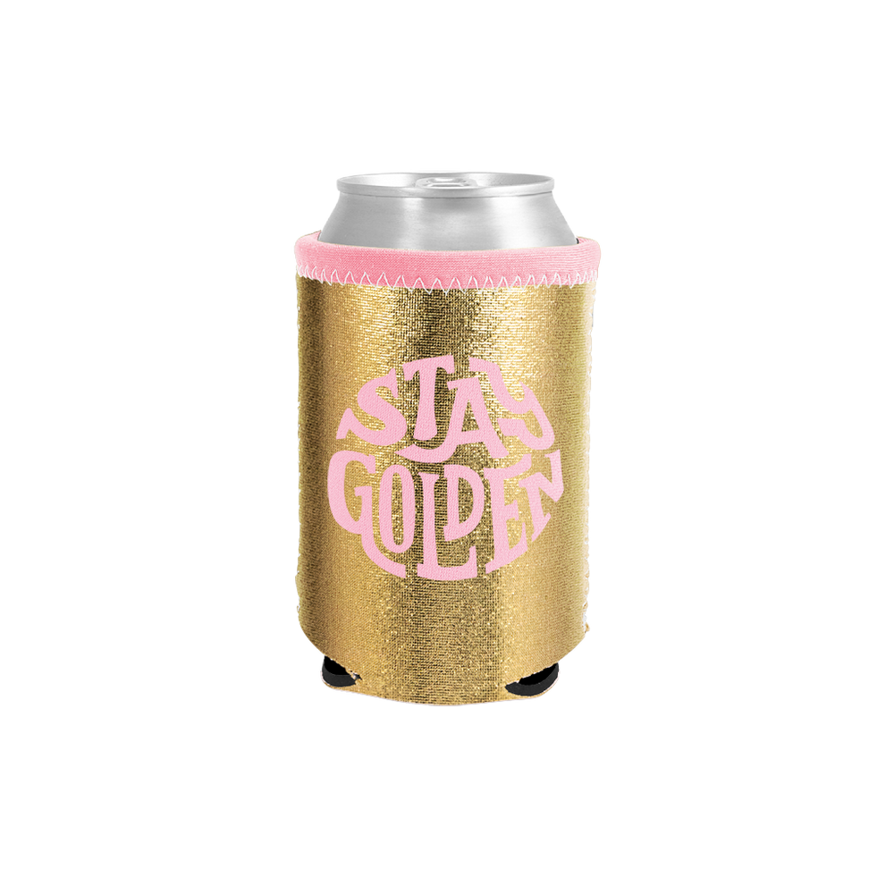 Stay Golden Metallic Can Holder - Talking Out Of Turn - [product_description]