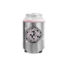 Disco Ball Metallic Can Cooler is a cute silver with sparkling pink disco ball design.