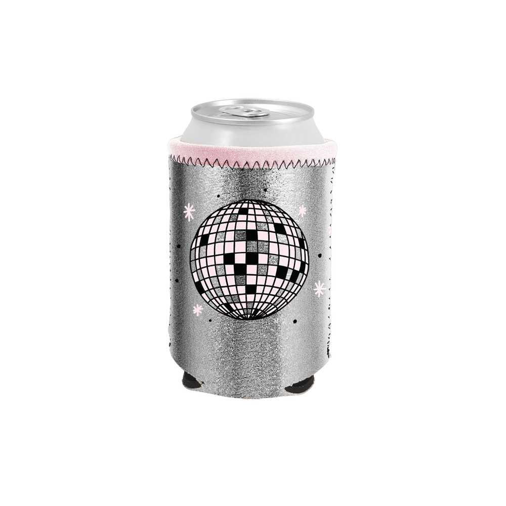 Disco Ball Metallic Can Holder - Talking Out Of Turn - [product_description]