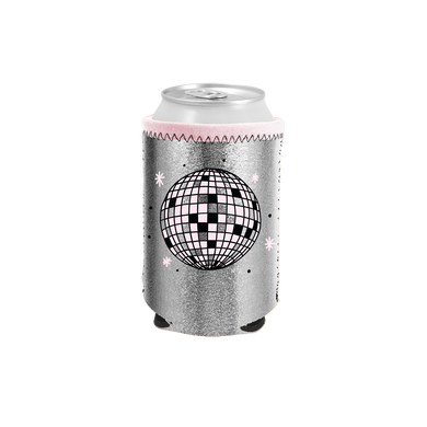 Disco Ball Metallic Can Cooler - Talking Out Of Turn