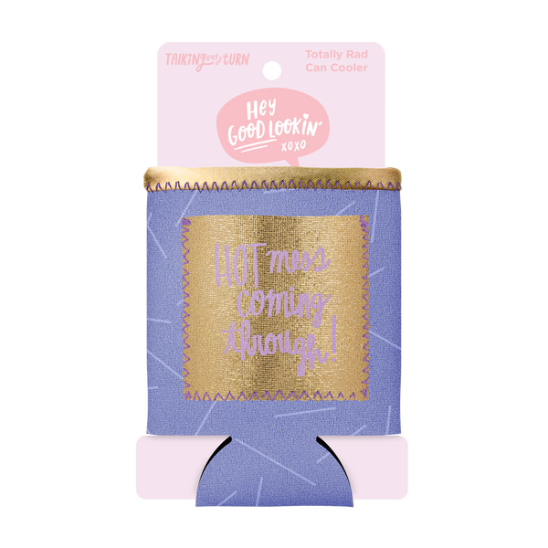 Hot Mess Can Cooler with Pocket comes packaged in a cute pink cardboard sleeve.