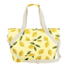 Ice Queen Squeeze the Day is a large soft sided cooler bag in yellow with lemons pattern and durable nylon strap.