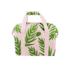 Miss Chill Buds is a soft sided cooler bag in blush pink with green leaf pattern.