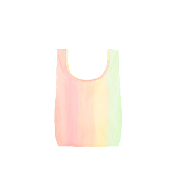 Twist and Shout Daybreak is a small, cute reusable tote bag in pastel rainbow gradient.
