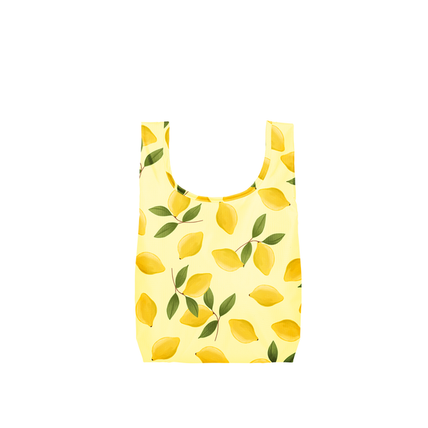 Twist and Shout Squeeze the Day is a medium, cute reusable bag in yellow with lemons pattern.