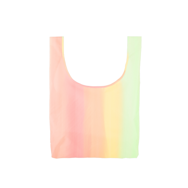 Twist and Shout Daybreak is a medium, cute reusable tote bag in pastel rainbow gradient.