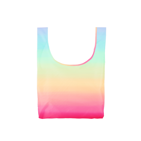 Twist and Shout Meltdown is a medium, cute reusable bag in a rainbow ombre pattern.