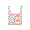 Twist and Shout Limbo is a medium, cute reusable bag in a rainbow wavy lines print.