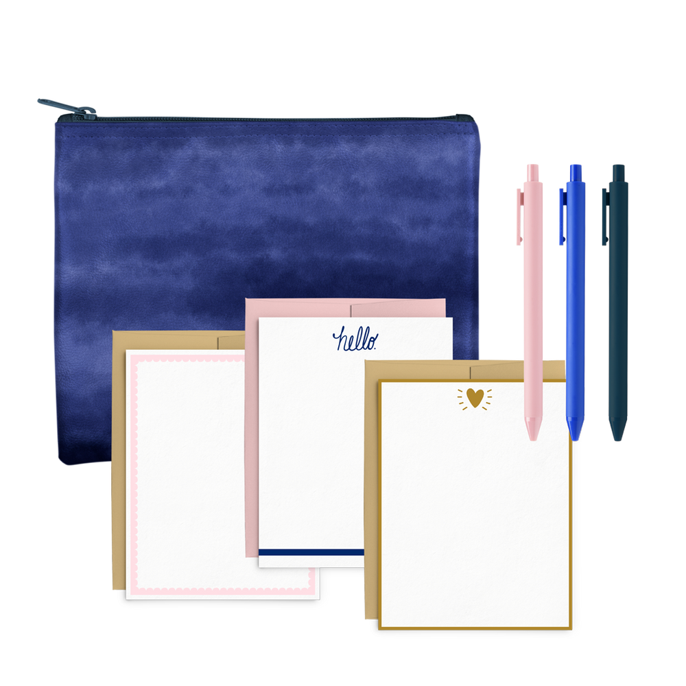 Indigo Dreams Stationery Kit
