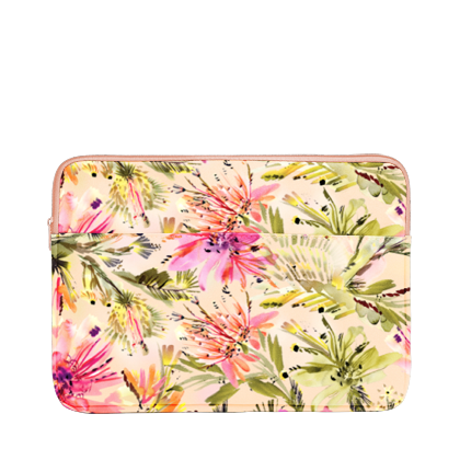 Tropical Mess Laptop Sleeve is a cute laptop case in abstract tropical florals pattern and 13 inch size.