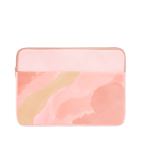 Daydream Laptop Sleeve is a cute laptop case in pink and peach cloud pattern and 13 inch size.