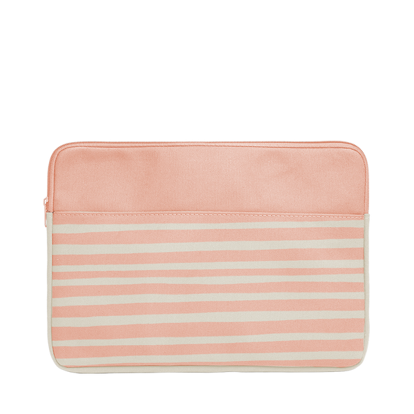 Peach Stripes Canvas Laptop Sleeve is a cute laptop sleeve in 13 inch size.