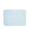 Denim Grid Laptop Sleeve is a cute laptop sleeve in light denim with grid pattern in 13 inch size.