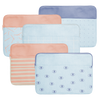 Canvas Laptop Sleeves are cute and practical in patterened denim and peach materials.