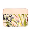 Lush Laptop Sleeve is a cute laptop case in abstract tropical floral and peach print and 15 inch size.