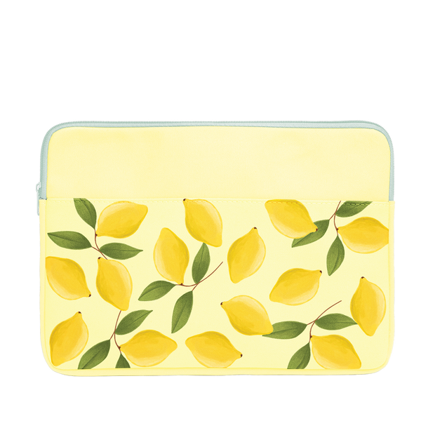 Squeeze the Day Laptop Sleeve is a cute laptop case in yellow with lemons pattern in 15 inch size.