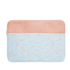 Pixie Sticks Canvas Laptop Sleeve is a cute laptop sleeve in light denim with peach pixie sticks pattern in 15 inch size.