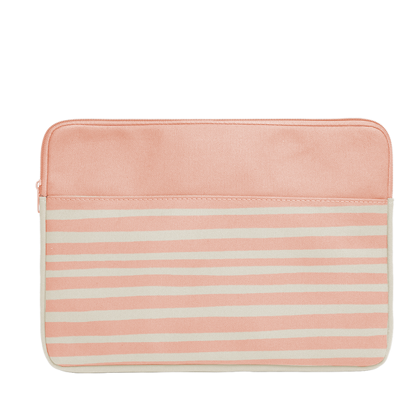 Peach Stripes Canvas Laptop Sleeve is a cute laptop sleeve in 15 inch size.