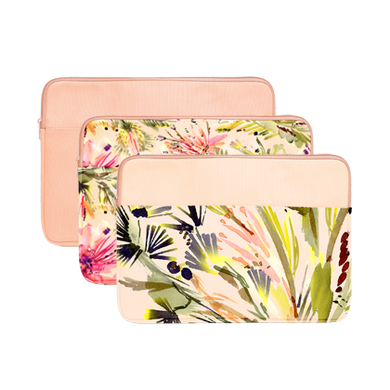 Tropics Collection Laptop Sleeves are cute laptop cases in Lush and Tropical Mess.
