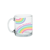a cute glass mug with wavy lines that says emotional rollercoaster