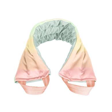 a weighted neck wrap with pastel colors