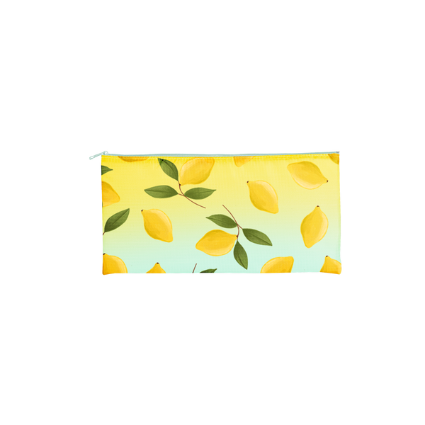 yellow lemons on a small pouch