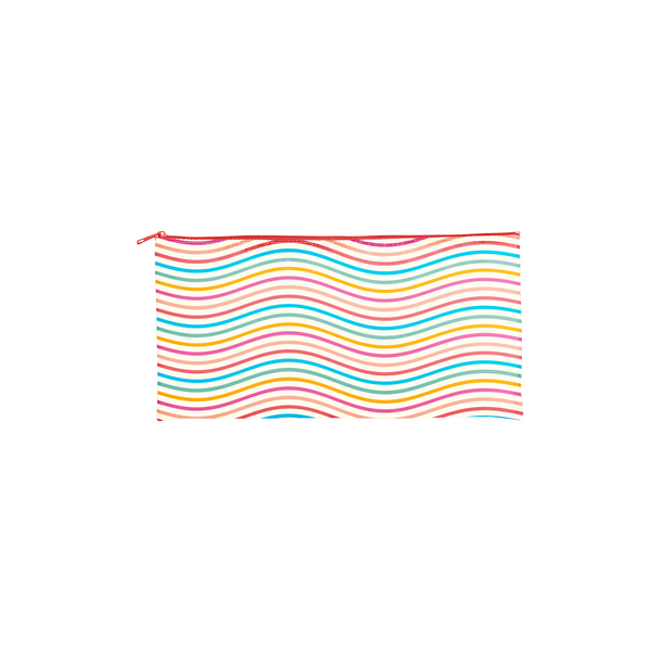 rainbow stripes on a pouch
