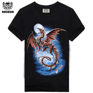 e4f5eddc Men's T Shirts Fly Dragon Casual 3D Printed Men Wear Size M-XXXL Cotton Men