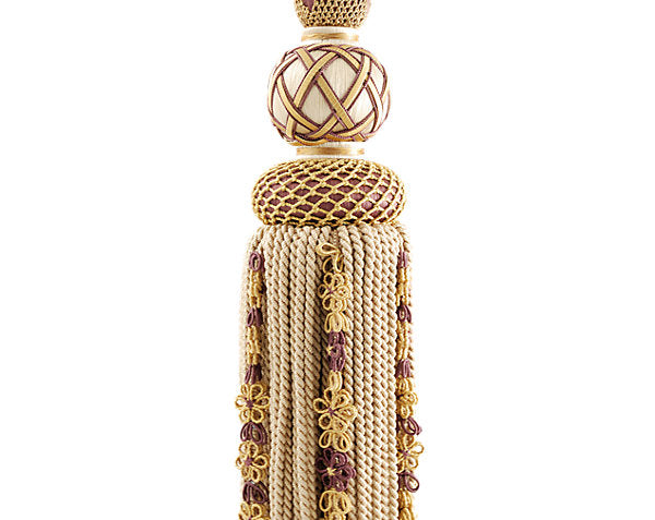 Scalamandre Trim LA3310-053 Siecle Single Tassel Tieback Amethyst