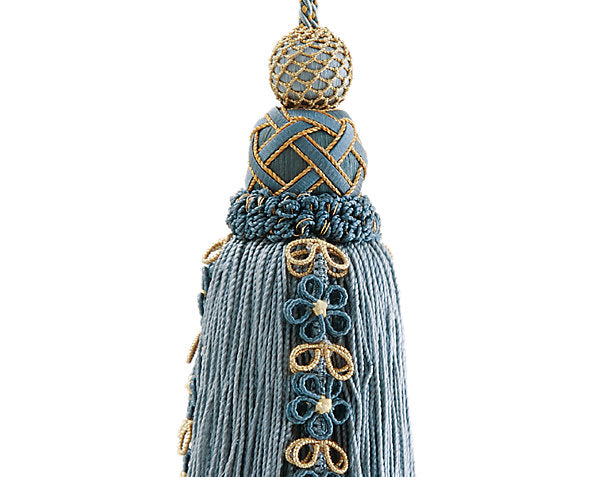 Scalamandre Trim LA4467-060 Siecle Key Tassel French Blue