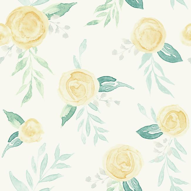 York Wallpaper PSW1012RL Watercolor Roses