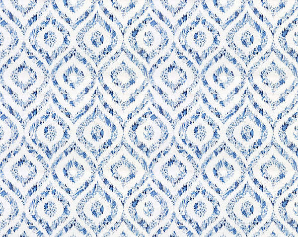 Scalamandre Wallpaper WNMIKAT-001 Ikat Blue