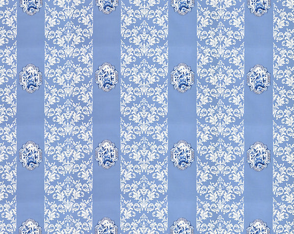 Scalamandre Wallpaper WNMIMPE-002 Imperial Blue