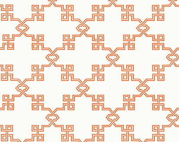 Scalamandre Wallpaper WP88373-005 Suzhou Lattice Coral