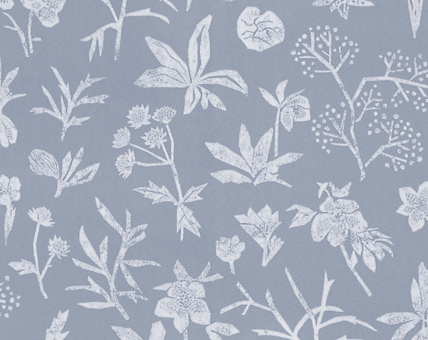 Scalamandre Wallpaper WSB0429-036 Johanna Floral Light Blue