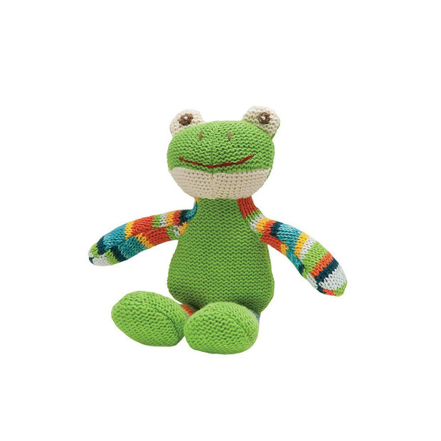 Knitwits Rattle Fergus Frog