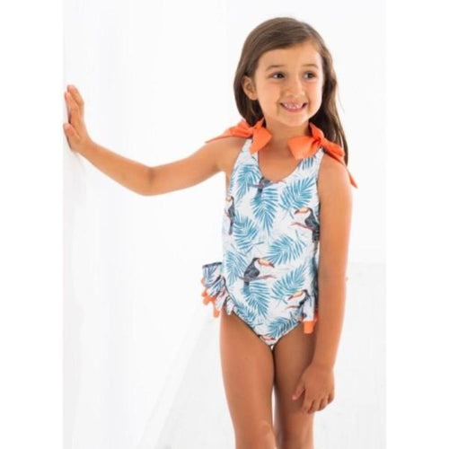 TOUCAN PRINT SANTORINI SWIMSUIT