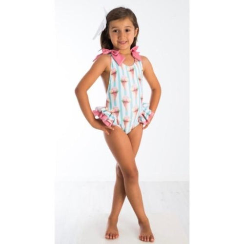ICE CREAM PRINT SANTORINI SWIMSUIT