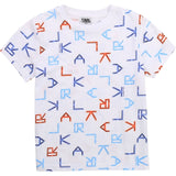 Karl Lagerfeld - All Over Logo Print T Shirt - White